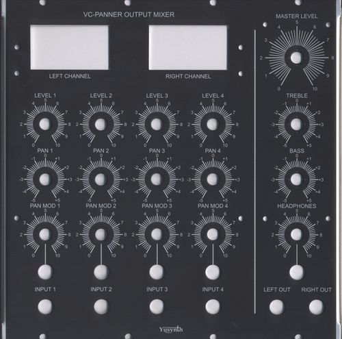 Yusynth Output Mixer/Panner Panel