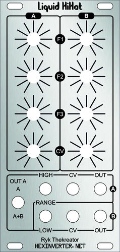 Panel for Hexinverter Liquid Hihat V1.4