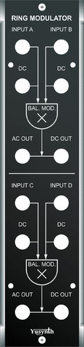 Yusynth Dual Balanced Modulator Panel